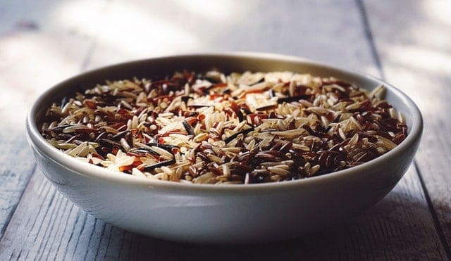 bowl of whole grain rice
